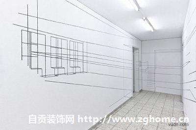 巴塞尔室内透视壁画