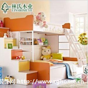 林氏木业儿童床高低床 1.5米上下组合子母床双层床家具T-XLW-221
