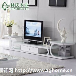 林氏木业电视柜 钢化玻璃 时尚创意电视机柜 组合地柜TV850-A