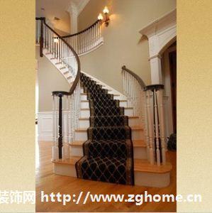 实木楼梯 白色小柱 别墅楼梯 楼梯设计 楼梯扶手护栏栏杆