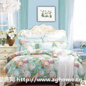 富安娜家纺 晨园幽香新品 床上用品 全棉床单四件套