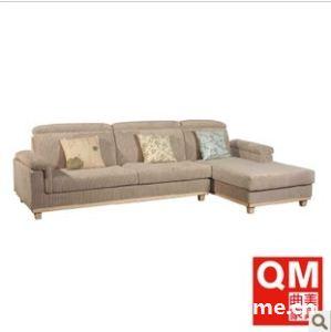 曲美家具 环保客厅沙发 布艺转角沙发 组合沙发F2-2005S15-7R+8L