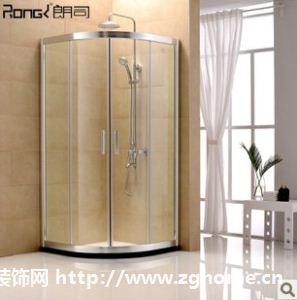 朗司卫浴高档整体淋浴房 钢化玻璃扇形推拉门简易洗浴室包邮WL101