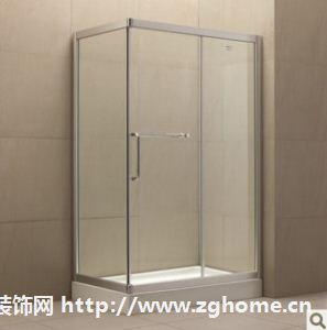 朗司卫浴钢化玻璃,方形、L形推拉门淋浴房配底盆:WL107